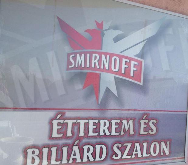 Smirnoff étterem és biliárd szalon