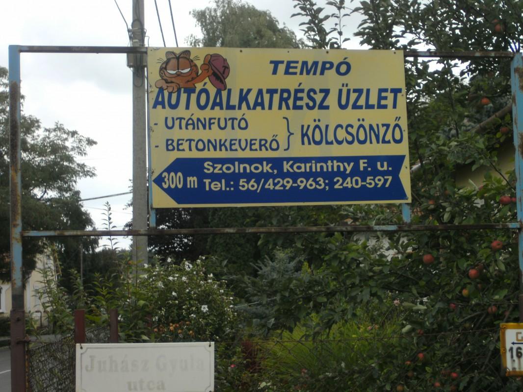 Tempo autóalkatrész üzlet,utánfutó,betonkeverő kölcsönző